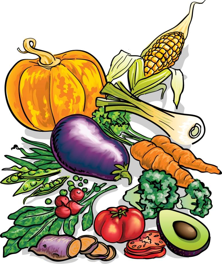 fruit and vegetable clip art. tips on buying vegetables: